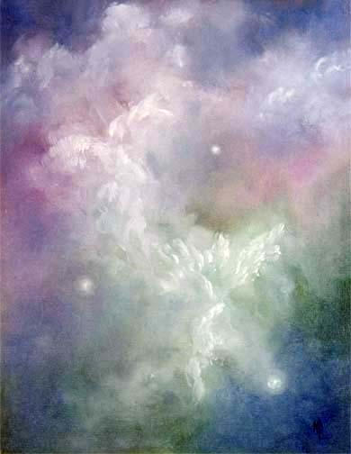 """Dancing Angels - 8""""x10"""" on Canvas Panel - SOLD"""