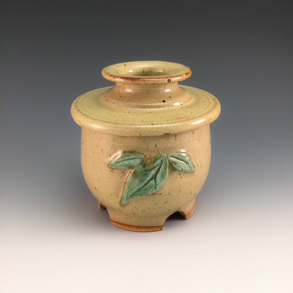 French Butter Keeper w/ Leaves