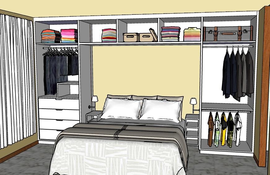 Projeto, armário de quarto.