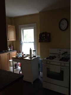Existing kitchen was in need of total gut and frame inclusive of plumbing, hvac, and electrical.