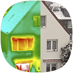 Thermograph of House