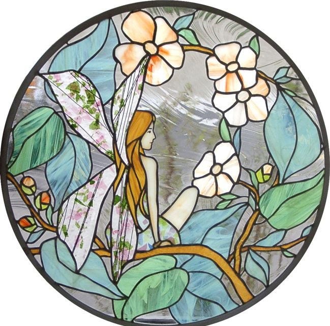 """Fairy"" by Nataliya Guchenia Glass Size - 24 1/8 Dia $600.00"