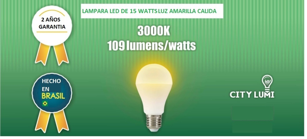 Foco LED luz amarilla de 9 watts