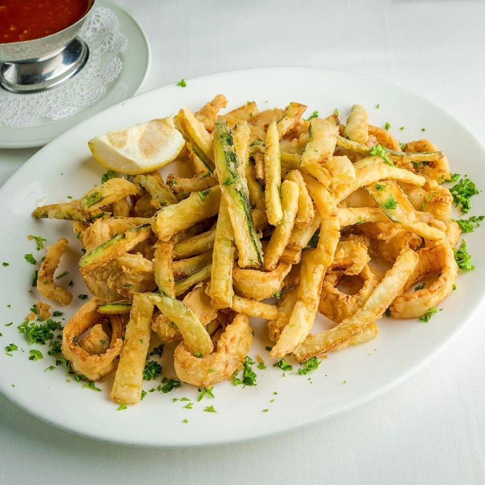 Fried Calamari and Zuccini