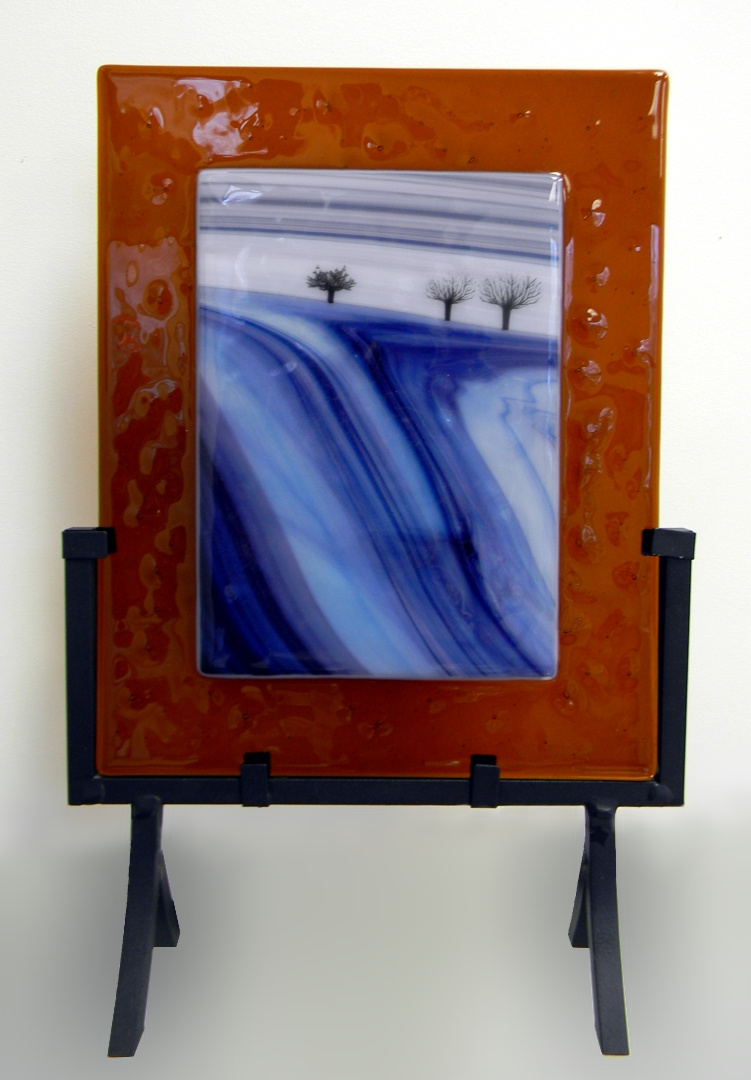 """Winter"" by Nataliya Guchenia Glass Size - 10""H X 8""W $250.00"