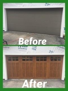 Overhead Garage Door Before & After Lansing, MI