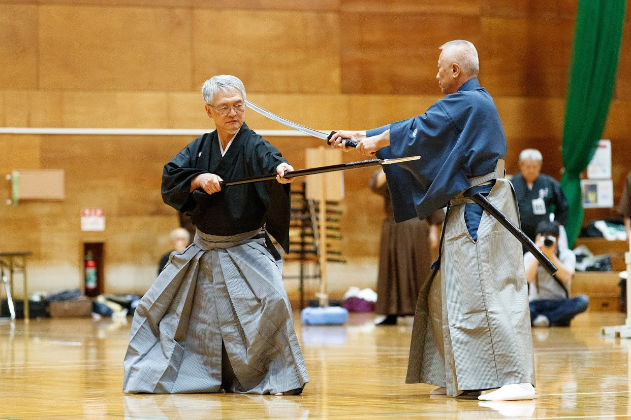 Sword vs. Spear Embu - Nomura Sensei and Takano Sensei.
