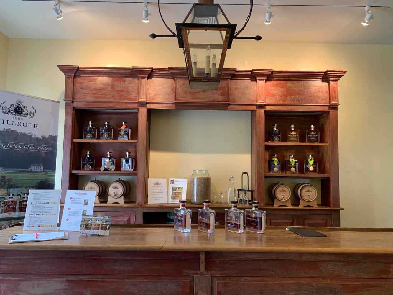 Hillrock Estate Distillery Tasting Bar