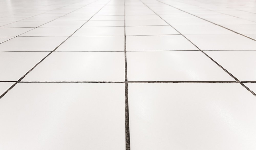 Tile floor grout