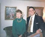 Robert Rienzo &  Artist Suzanne Eisendieck February 1997