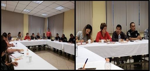 El día de ayer 05 de julio se llevó a cabo una reunión con Altos Mandos de las  diferentes corporaciones policíacas en la región (Municipal, Estatal y Federal),  Fiscalía de inmigrantes, y el Fiscal de Distrito Fronterizo  Costa Mtro. Armando Pérez Narváez los exhorto para seguir trabajando en atención a las víctimas de violencia con medidas de protección, la reunión fue  para atender propuestas derivadas de la Alerta de Género emitida en el  Municipio de Tapachula, Chiapas,  La reunión tuvo lugar en la sala de reuniones de la Fiscalía de Distrito Fronterizo.