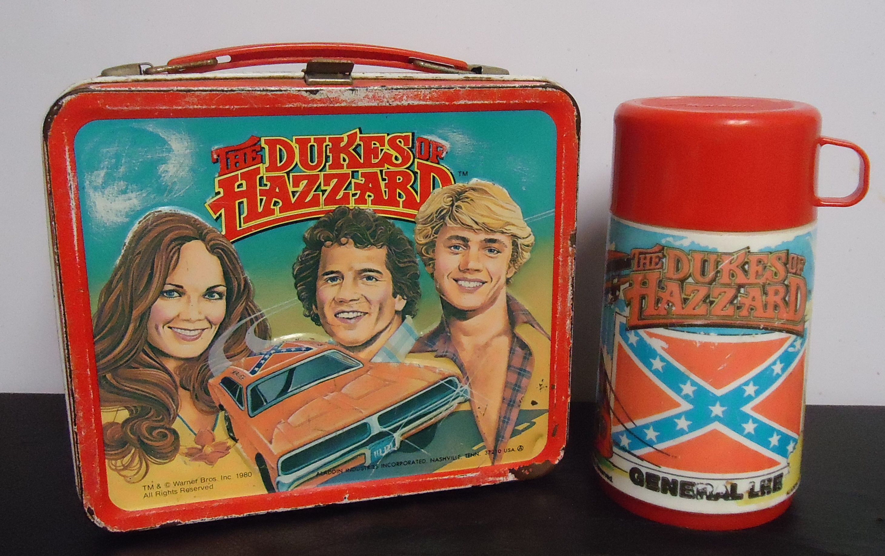 """( SOLD!!! ) (3) Metal Lunch Box W/Thermos """"The Dukes Of Hazzard"""" $88.00"""