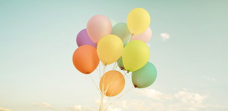 Multicolor Balloons in Summer Holidays