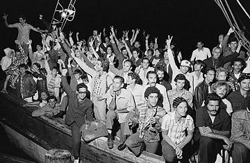 Scenes from El Mariel Boatlift, circa 1980s