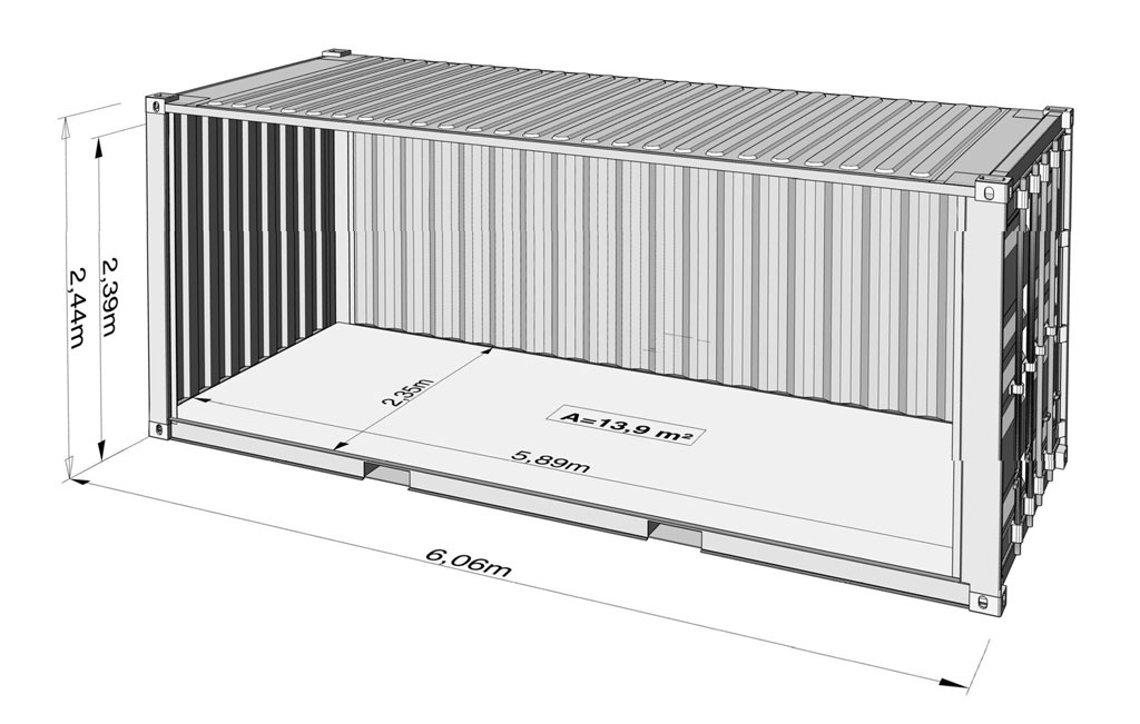 standard 20ft container specification