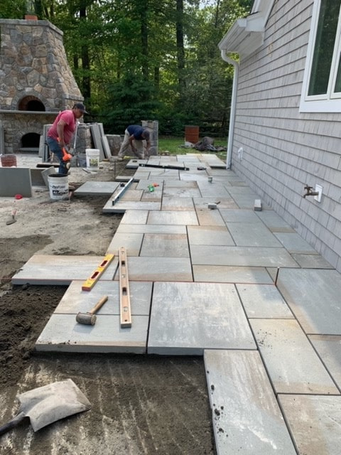 Ongoing Brick Installation