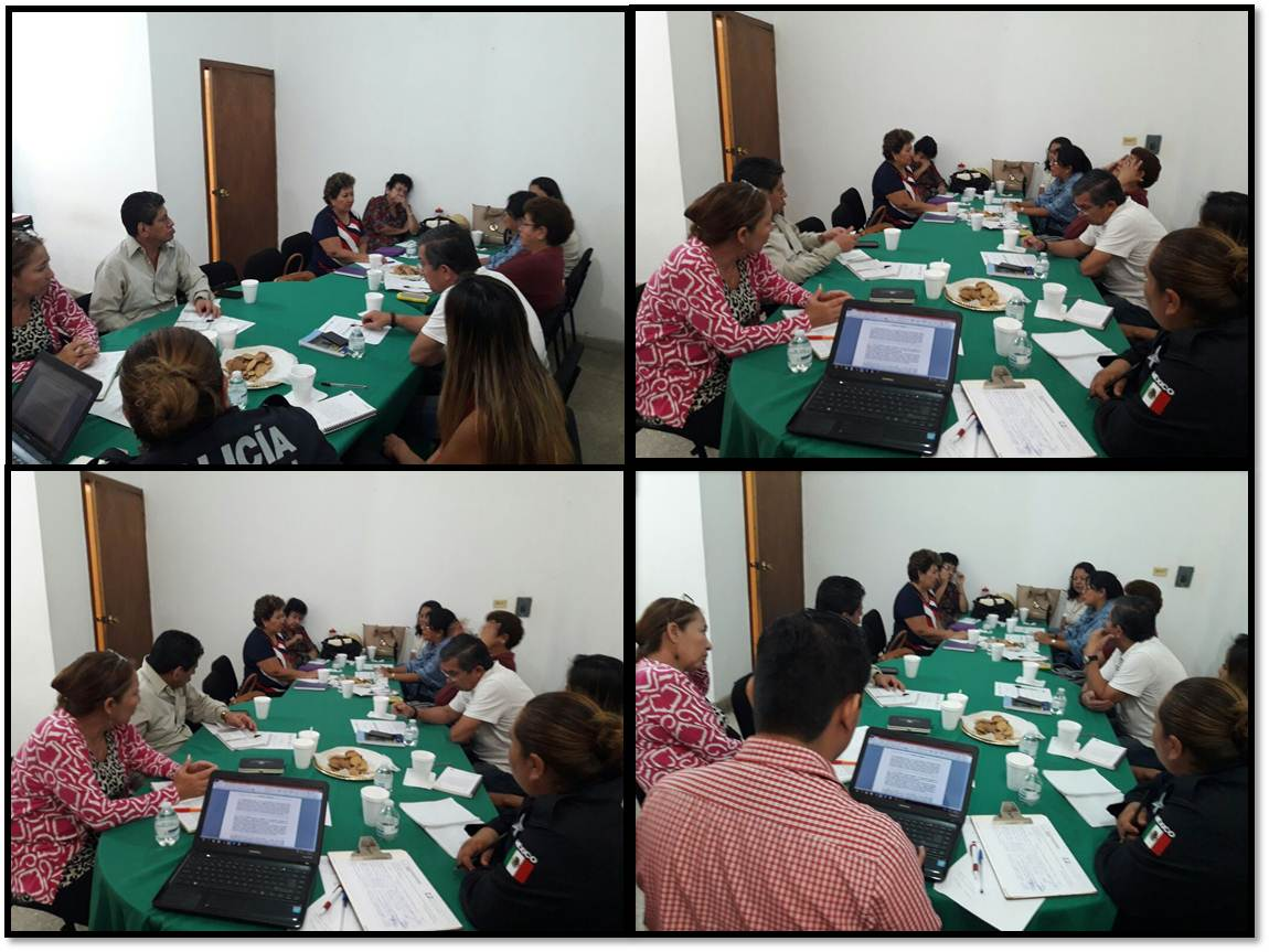 28 /09/2017 se llevó a cabo la reunión de la Mesa de Trabajo Interinstitucional de  Atención a Víctimas de Violencia de Género correspondiente al mes de Septiembre de 2017,  en donde se trataron temas  relacionados a víctimas de violencia familiar, violencia sexual, desaparición de personas, feminicidios  y delitos que se han incrementado en la región como también el seguimiento a los acuerdos  de las reuniones anteriores. Se llevó a cabo en la Fiscalía de Inmigrantes en Tapachula.