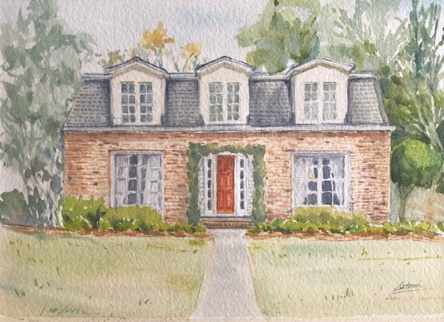 Commission a watercolor of a home by Satomi Kamei.