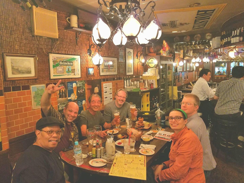 Beers with Nakamura Kenzo Sensei at the GGC.