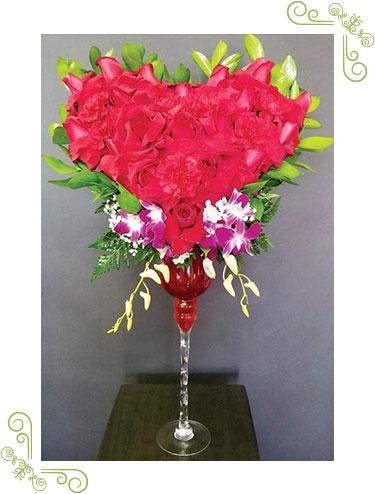 Closed Heart Vase