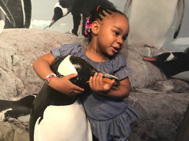 Child With a Penguin