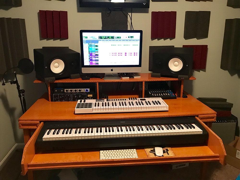 Recording Studio With Custom Desk