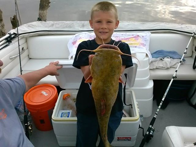 Trystan with his catfish - 2013