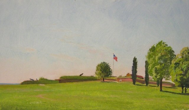 19. By the Dawn's Early Light, Ft. McHenry, 7x12 oil on panel