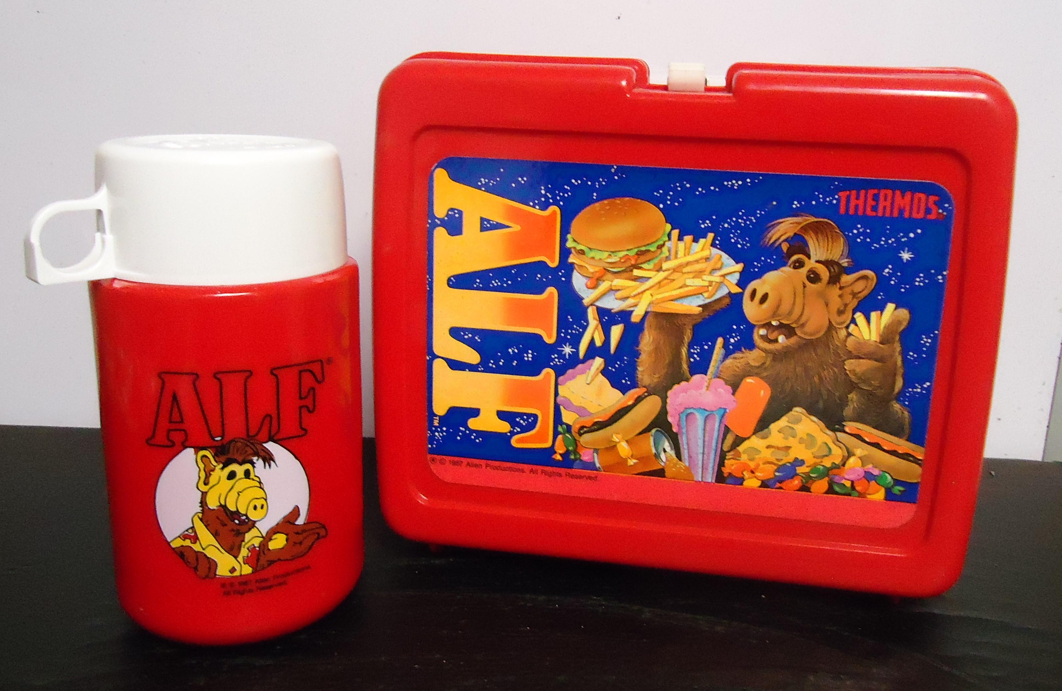 "(12) ""Alf"" Plastic Lunch Box W/ Thermos $36.00"