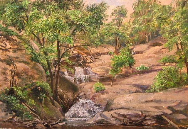 36. Cunningham Falls, Maryland, 8x12 oil on panel
