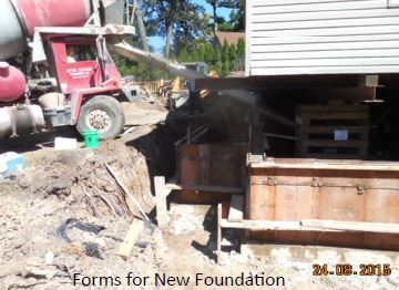Building New House Foundation