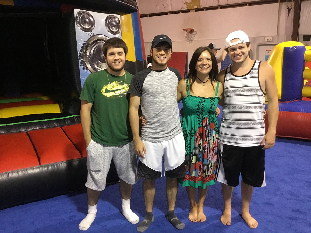 Family Enjoying Gymnastics Class