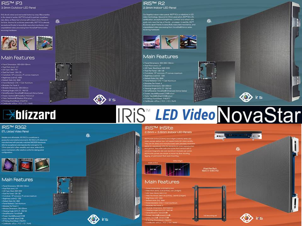 Blizzard Iris LED Video Wall