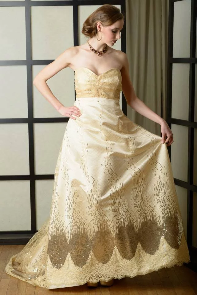 Beautiful Golden Gown By Harold Clarke