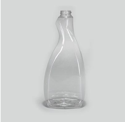 Botella oval atomizadora 600ml. color cristal PET