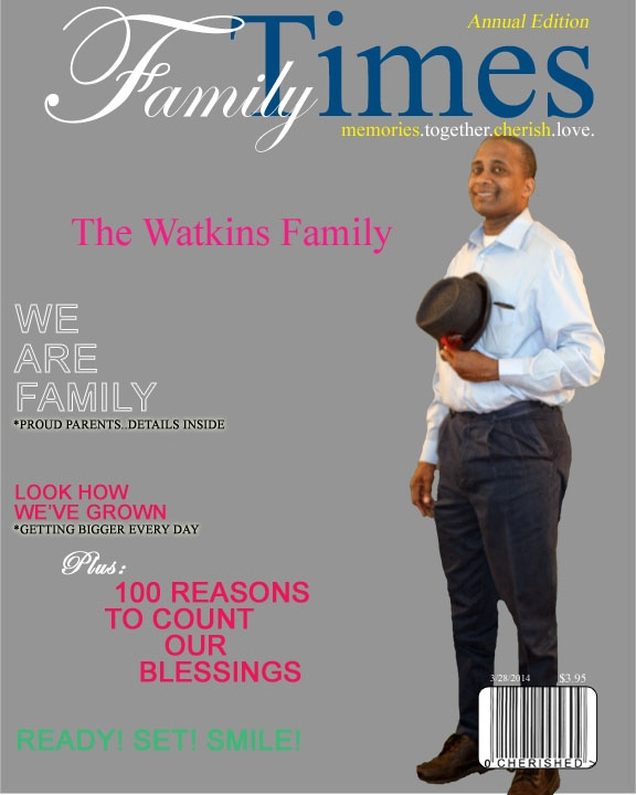 Family Man What a man on the cover of Family Magazine must be a good father