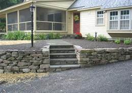 Outdoor Stair Stone Wall