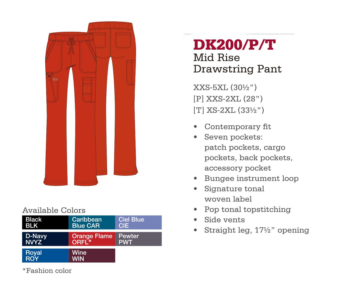 Pantalón con Cordones a Medio Levantar. DK200/P/T.