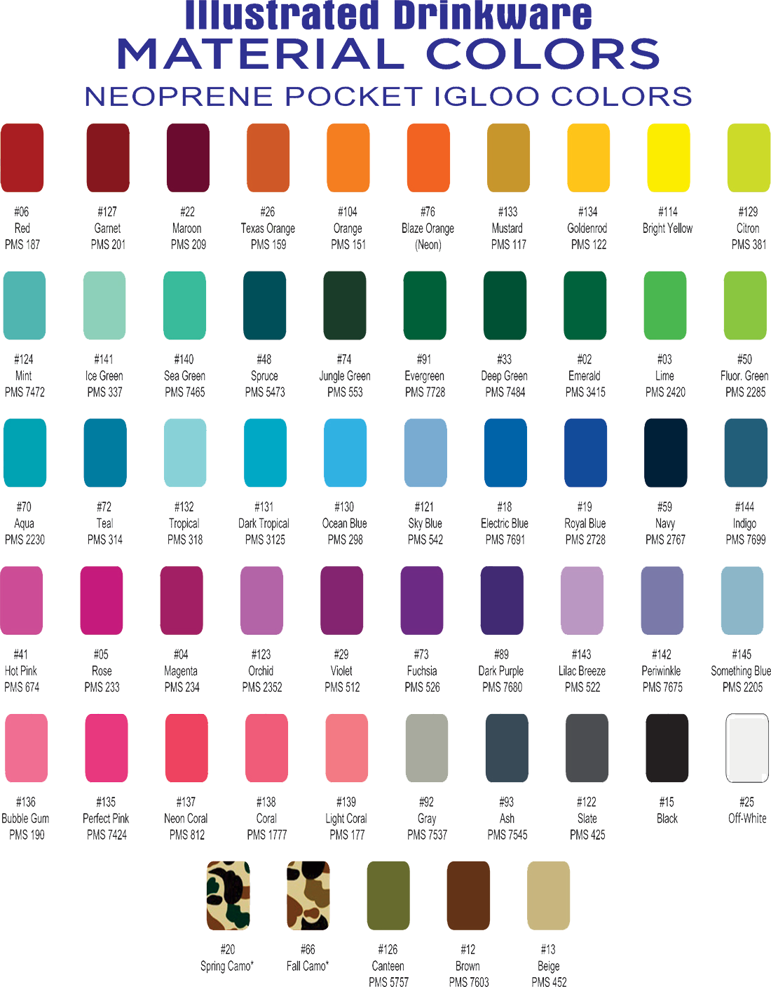 Igloo Color Chart
