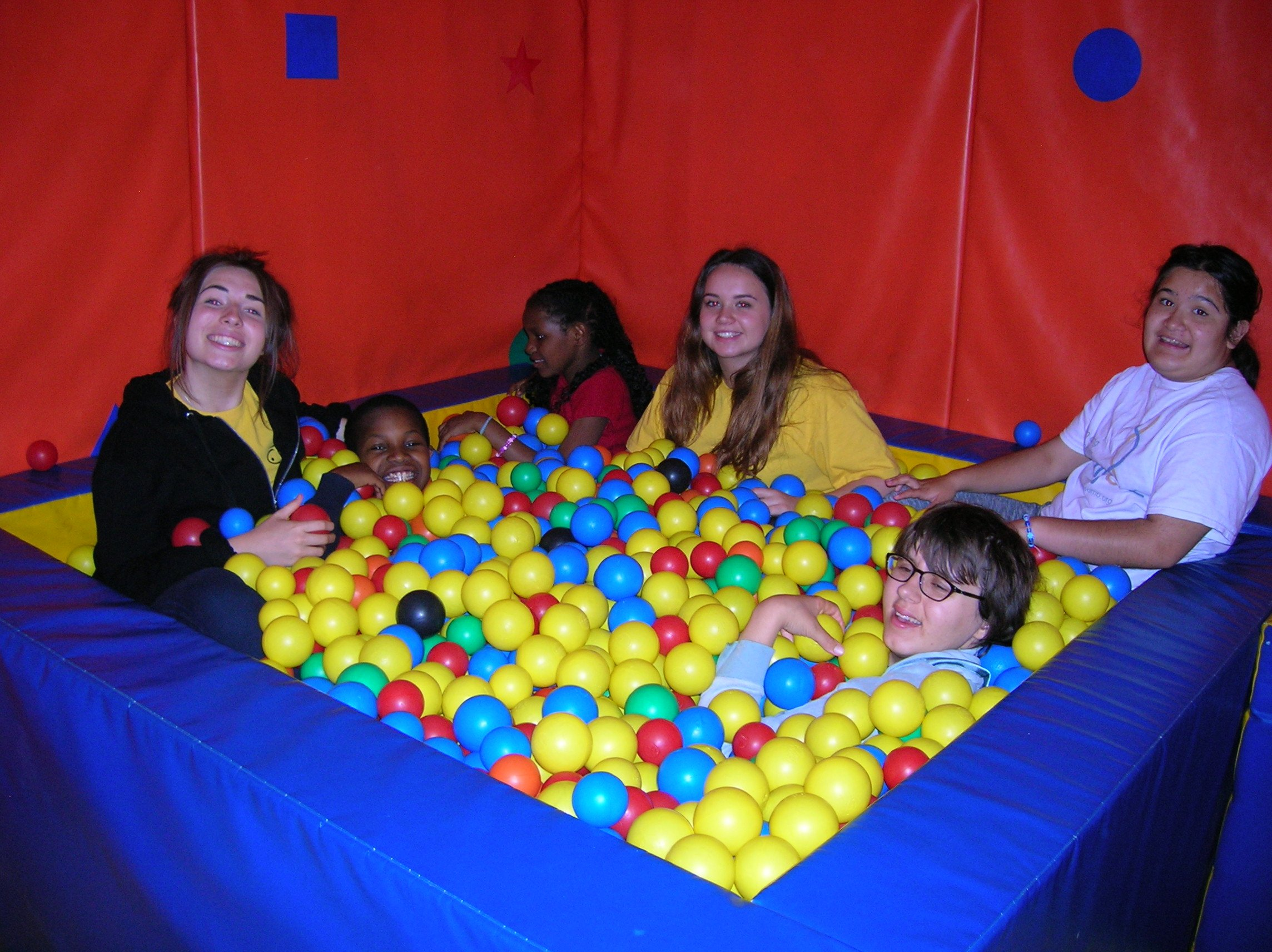 Staff also enjoying the soft play!