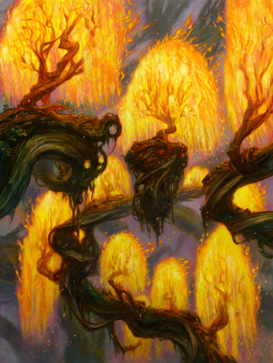 "Grove of the Burnwillows Zendikar Rising - Expeditions 24"" x 18""  Oil on Panel private collection"