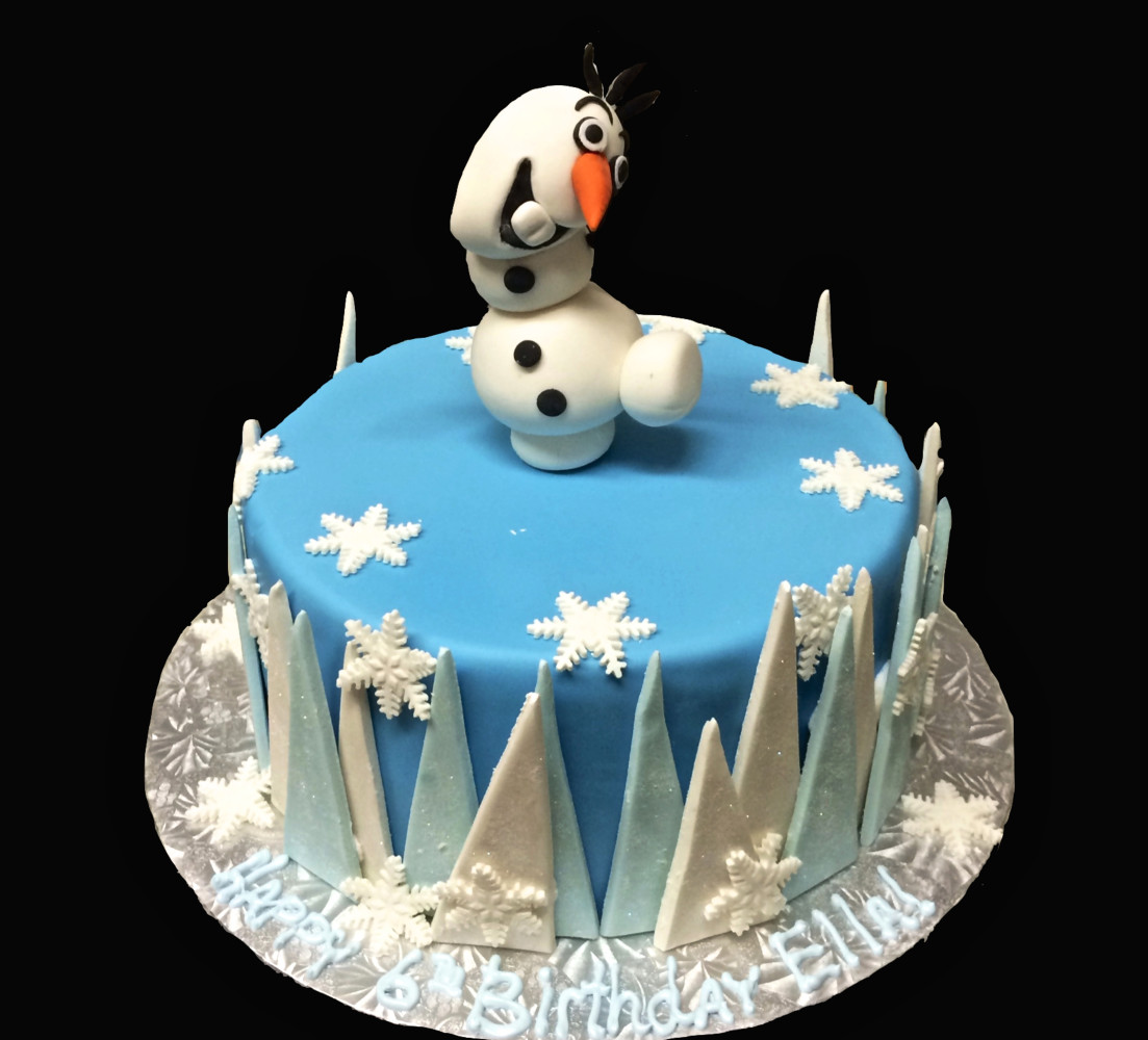Frozen Themed Birthday Cake featuring Olaf!