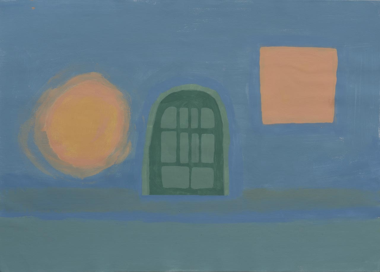 Espacio, 2003 Acrilico sobre papel 24 x 34 cm