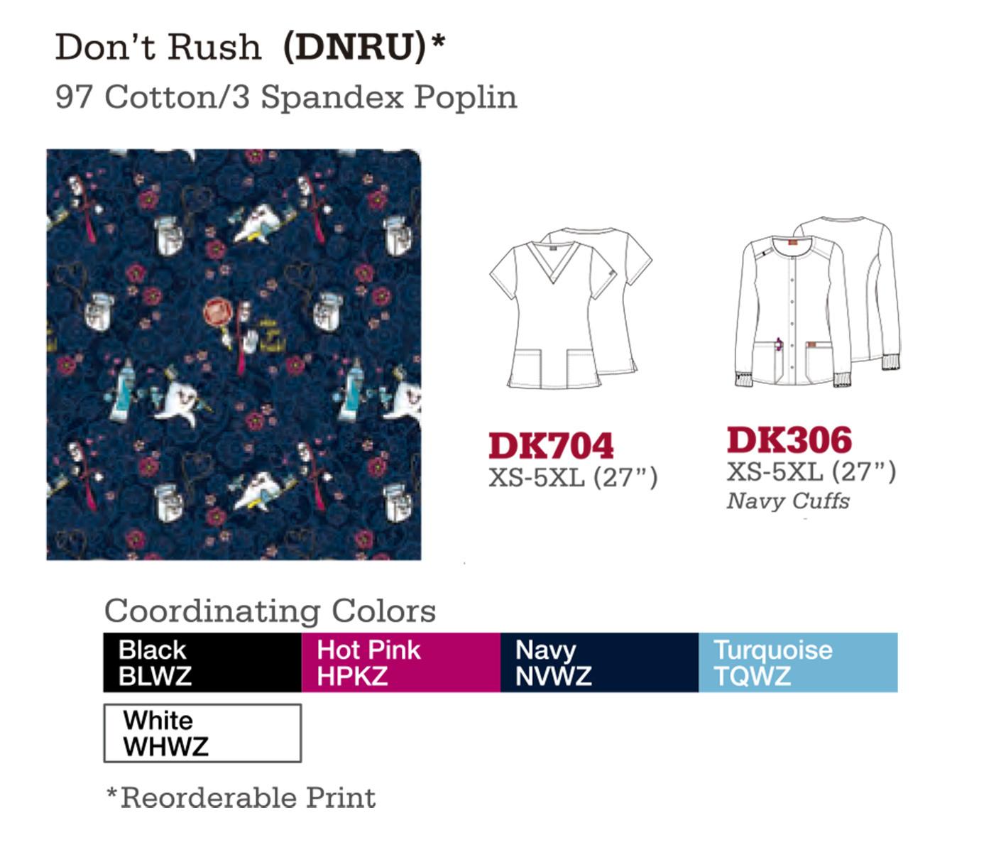Don't Rush. DK704. DK306.