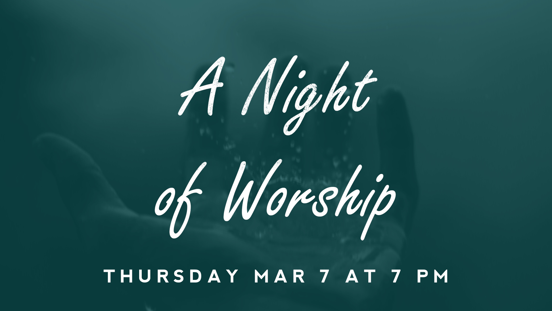 Come join us as we dedicate a night in praise and worship to the LORD.