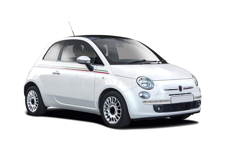 Nuevo Fiat blanco 500 imagen de archivo. Imagen de aislado - 65982749