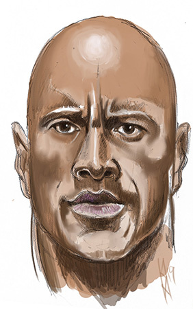 Quick sketch of the Rock...