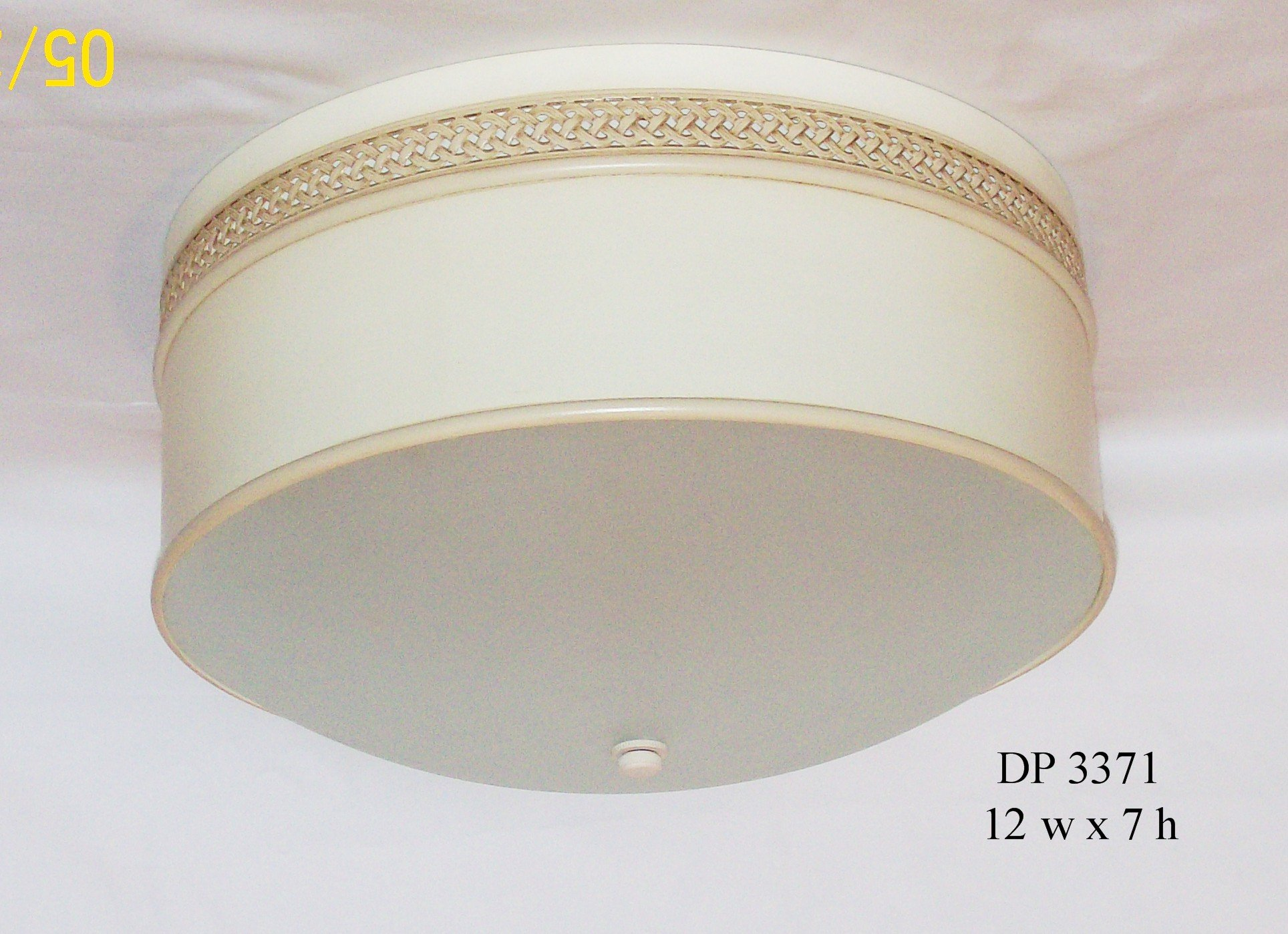 Round Tole Flush mount w/ rounded glass