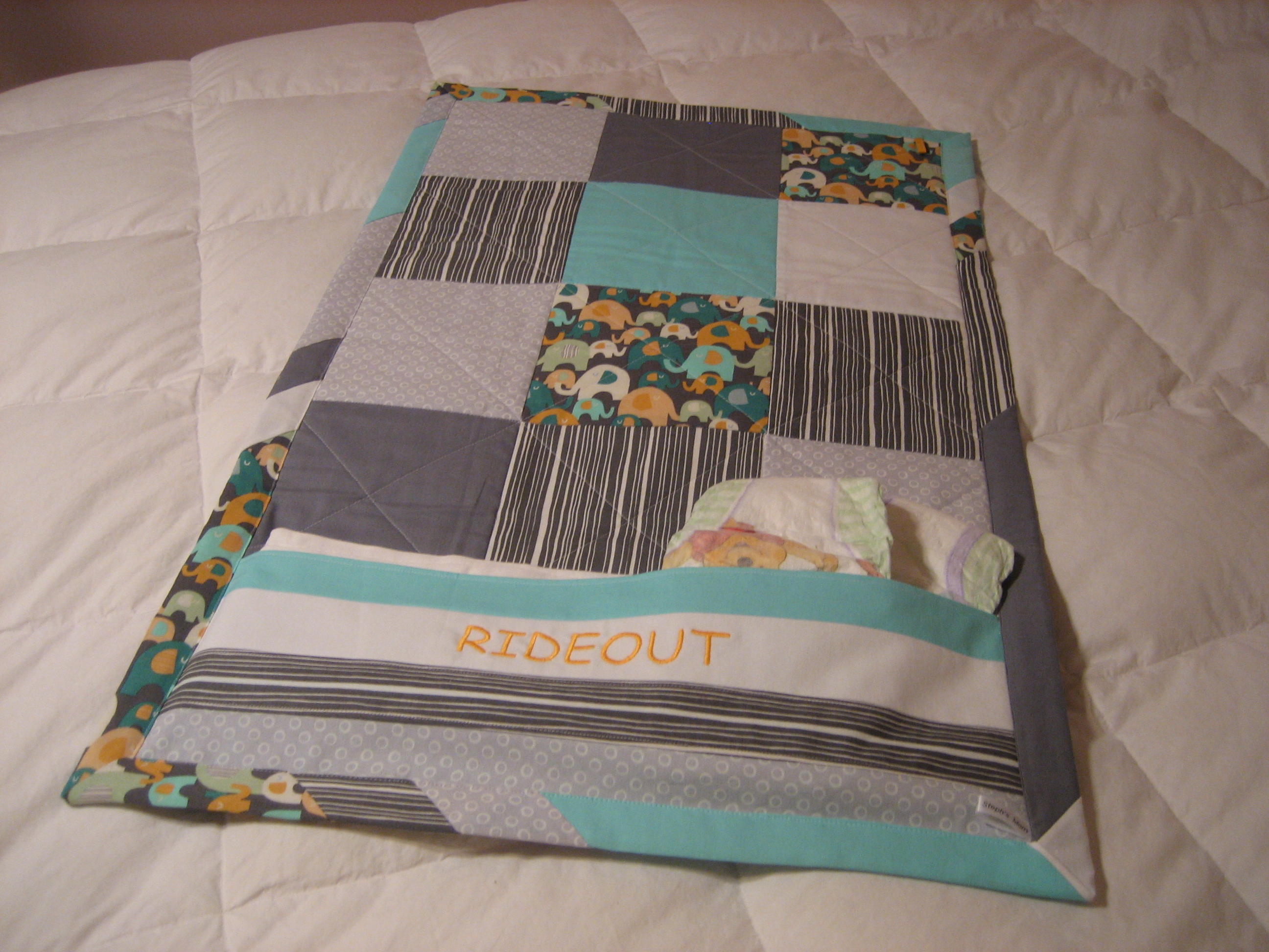 Custom infant to toddler changing pad