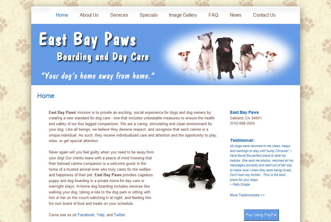 East Bay Paws Website
